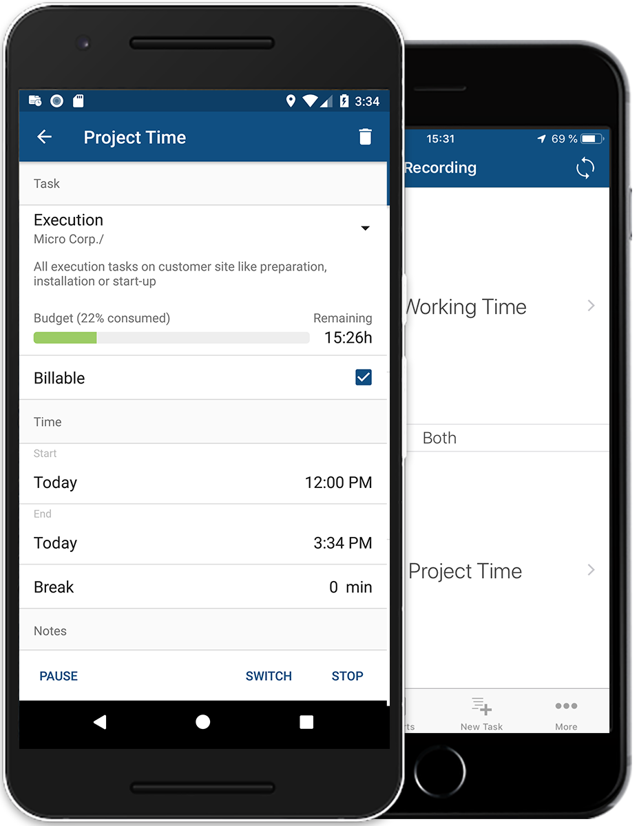 timr apps project time tracking