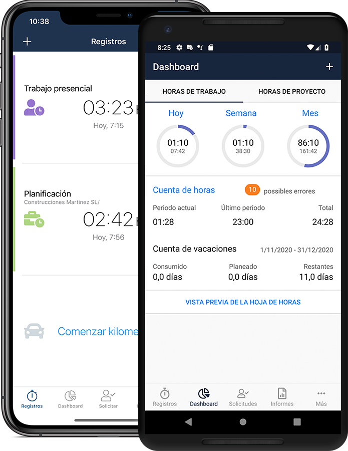 timr mobile apps control horario