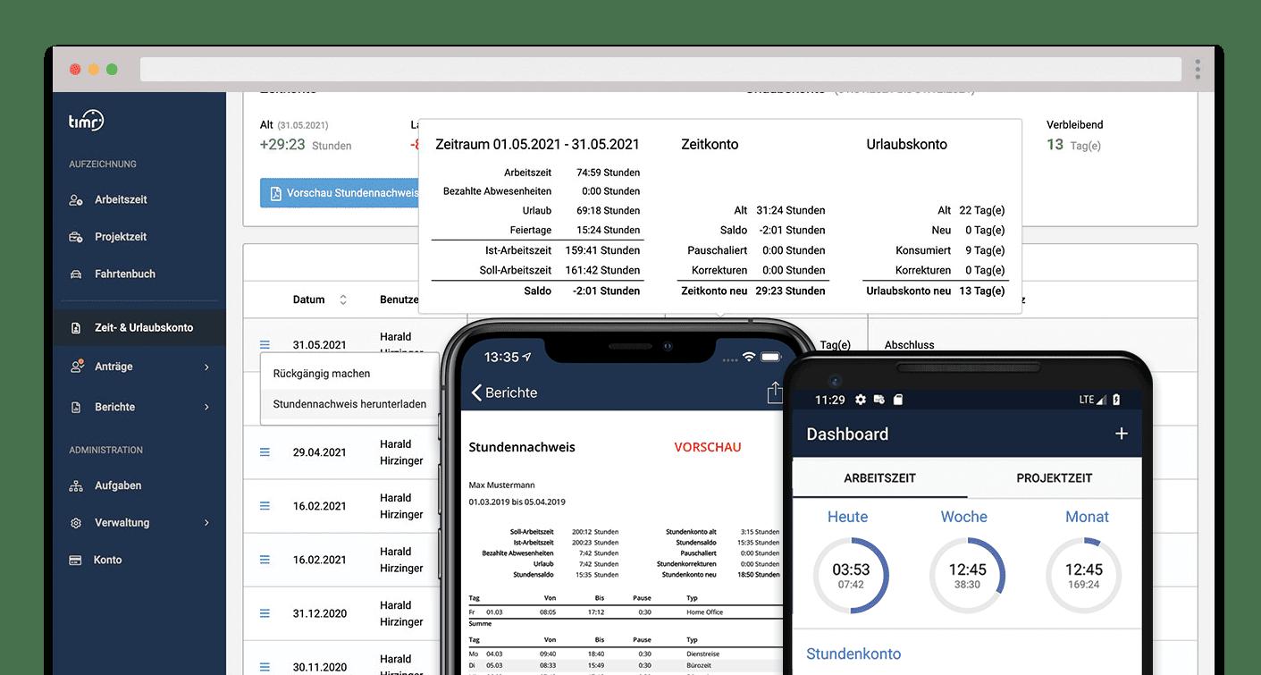 timr Stundenzettel Web App