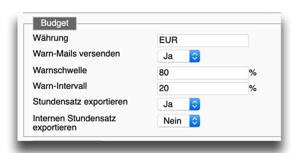 Stundensatz im Excel Export möglich
