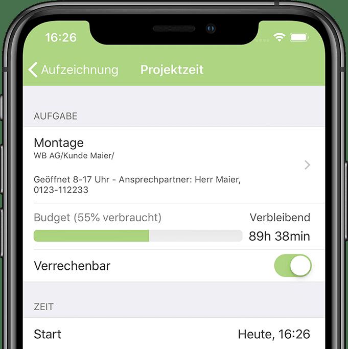 Kostenkontrolle per App