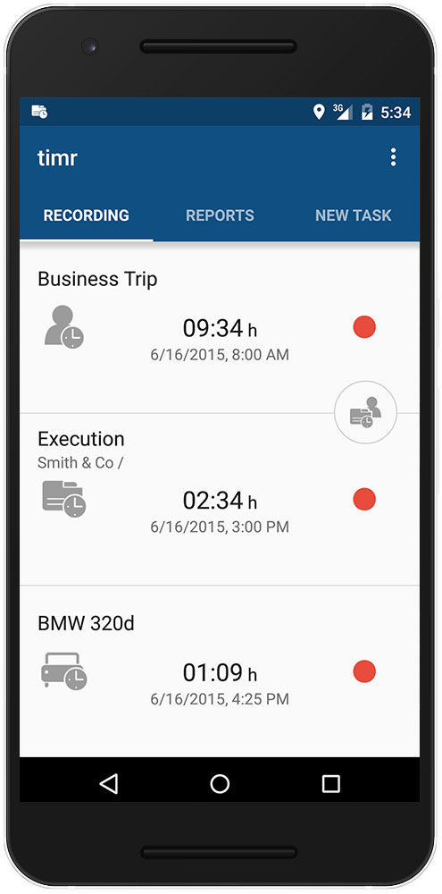 android time tracking app