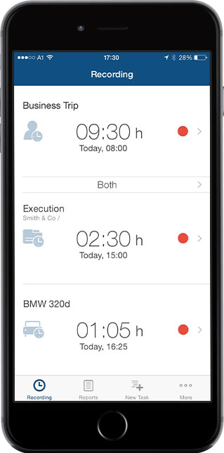 time tracking iphone app